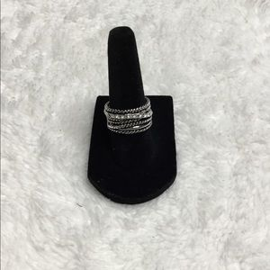 Inc Textured Pave Statement Ring